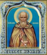 Рукописная икона Сергий Радонежский с резьбой 33