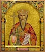 Рукописная икона Владимир Равноапостольный 13 (Размер 27*31 см)