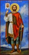 Рукописная икона Александр Невский 46 (Размер 13*25 см)