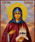 Рукописная икона София Суздальская 4 (Размер 17*21 см)