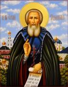 Рукописная икона Сергий Радонежский 36 (Размер 30*40 см, 40*50 см)