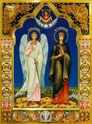 Рукописная икона Ангел Хранитель и Анастасия Узорешительница