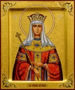Рукописная икона Елена Равноапостольная 16 (Размер 17*21 см)