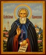 Рукописная икона Сергий Радонежский 37 (Размер 17*21 см)