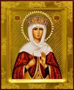 Рукописная икона Ирина Македонская с жемчугом