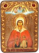Икона ручной работы Анастасия Узорешительница с камнями