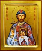 Рукописная икона Игорь Черниговский 9 (Размер 17*21 см)