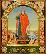 Рукописная икона Владимир Равноапостольный 19 (Размер 27*31 см)