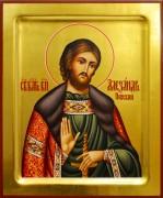 Рукописная икона Александр Невский 38 (Размер 17*21 см)