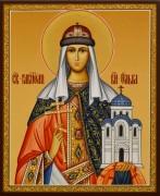 Рукописная икона Ольга Равноапостольная 18 (Размер 17*21 см)