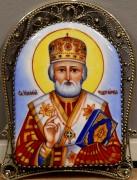 Икона из финифти Николай Чудотворец 111 (Размер 8*10 см)