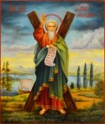 Рукописная икона Андрей Первозванный масло 26 (Размер 21*25 см)