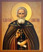Рукописная икона Сергий Радонежский 39