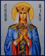 Рукописная икона Ольга равноапостольная 21 (Размер 13*16 см)