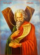 Рукописная икона Андрей Первозванный масло 28