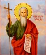 Рукописная икона Андрей Первозванный масло 29 (Размер 17*21 см)