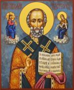 Рукописная икона Николай Чудотворец 116