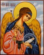 Рукописная икона Ангел Хранитель с Душой 144 (Размер 13*16 см)