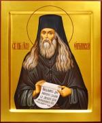 Рукописная икона Лев Оптинский