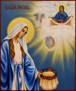 Рукописная икона Анастасия Узорешительница 3 (Размер 17*21 см)