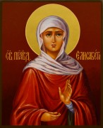 Рукописная икона Елизавета праведная 2