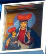 Рукописная икона Груздовская Божия Матерь