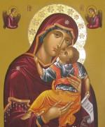 Рукописная икона Гликофилуса Сладкое Лобзание