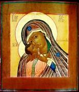 Рукописная икона Днепрская (Днепровская) Божия Матерь
