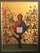 Рукописная икона Древо Жизни