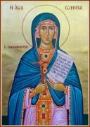 Рукописная икона Евфимия Всехвальная