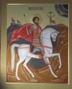 Рукописная икона Евстафий Плакида