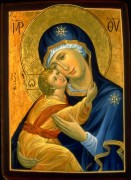 Рукописная икона Елеуса Милостивая Умиление