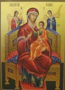 Рукописная икона Всецарица
