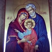 Рукописная икона Святое Семейство