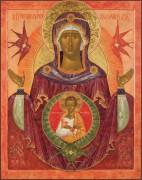 Рукописная икона Жена Облеченная в солнце