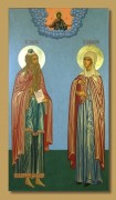 Рукописная икона Захария Пророк и Праведная Елисавета