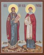 Рукописная икона Петр и Феврония 5