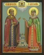 Рукописная икона Петр и Феврония 7