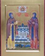 Рукописная икона Петр и Феврония 10