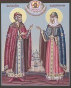 Рукописная икона Петр и Феврония 13