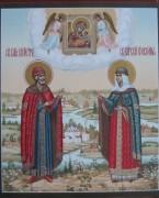 Рукописная икона Петр и Феврония 17