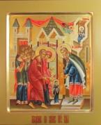 Рукописная икона Введение во Храм