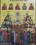Рукописная икона Покровители Охотников и Рыболовов