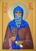 Рукописная икона Кириак Отшельник