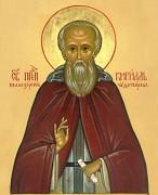 Рукописная икона Кирилл Белоезерский