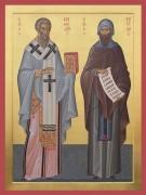 Рукописная икона Кирилл и Мефодий