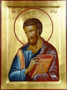 Рукописная икона Лука Евангелист