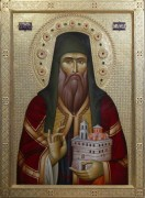 Рукописная икона Никанор Чудотворец монах
