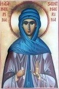 Рукописная икона Макрина