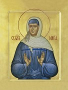 Рукописная икона Мария Блаженная Дивеевская